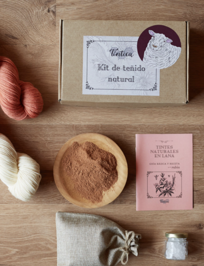 kit de teñido natural rubia 2 madejas