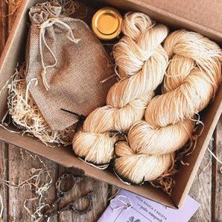 kit de teñido natural palo campeche 2 madejas
