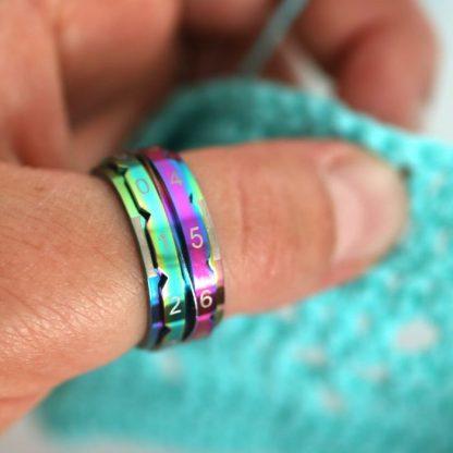 KnitPro Row counter ring rainbow 1